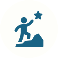 Reaching for the stars icon